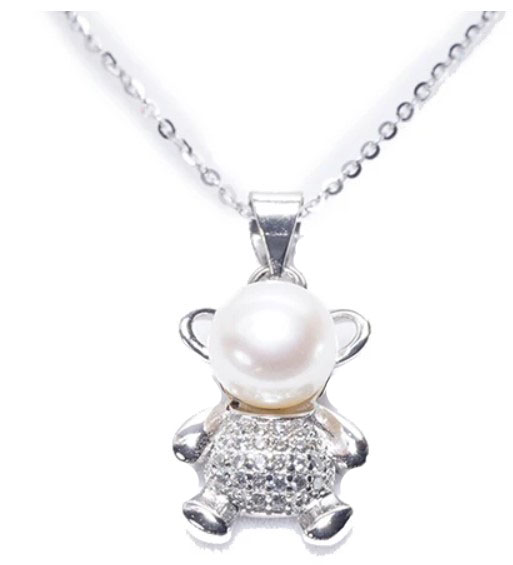 Pearly Lustre's Teddy Bear Pendant