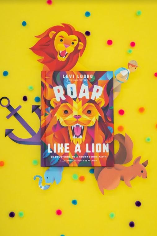 Roar like a lion yellow